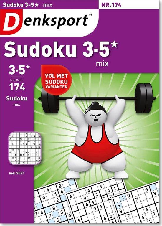 Afbeelding van Denksport puzzelboek Sudoku 3-5* mix editie 174