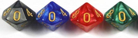 Thumbnail van een extra afbeelding van het spel 10-Kantige Dobbelsteen (SET van 10 STUKS) - D10 - Blauw Goud - Hoge Kwaliteit - 10 Zijdige Dobbelsteen - Stipco