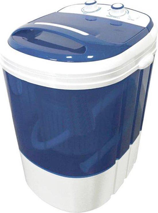 Lowander mini wasmachine 3kg met centrifuge én bovenlader - kleine wasmachine voor op reis / camping / studenten