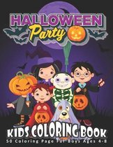 Halloween Party, Kids Coloring Book