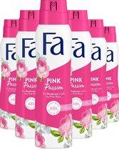 Fa Pink Passion Deospray 6x 150ml - Voordeelverpakking