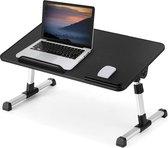 SWILIX ® Laptoptafel - Inklapbaar en Verstelbaar Bedtafel - Laptopstandaard - Schoottafel Zwart / Grijs