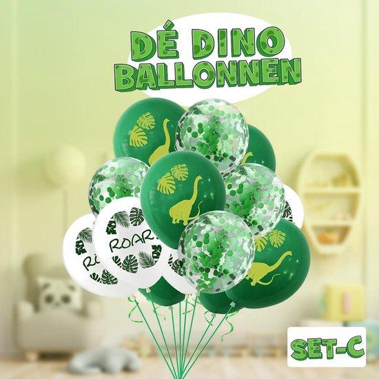 Dinosaurus ballon ! Set C | Verschillende dino ballonnen voor op een kinderfeestje of kinderkamer! | Ook leuk als speelgoed | Op te blazen met een rietje of met helium |
