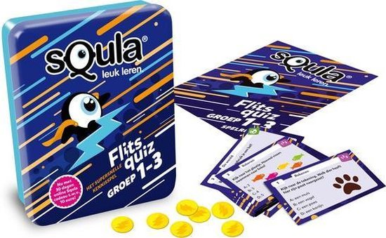 Thumbnail van een extra afbeelding van het spel Squla flitsquiz groep 1 2 3 - Kaartspel
