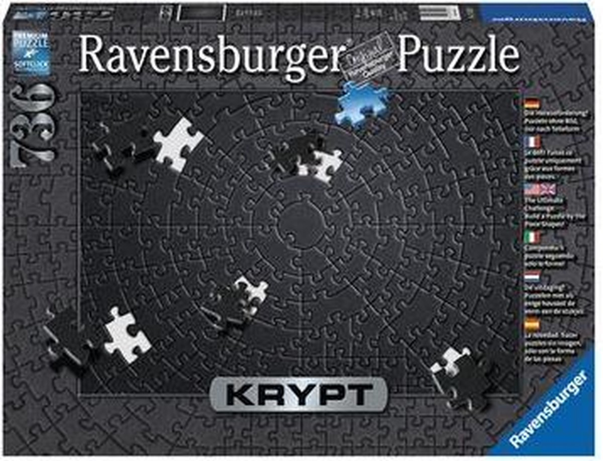 Ravensburger Krypt Puzzel Zwart - Legpuzzel - 736 stukjes