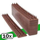 VerminBuster® Anti Klim Strip 10-pack - 5 meter - Voor muren en hekwerk - Vogelpinnen - Duivenpinnen - Kattenverjager