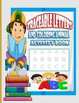 Traceable Letters and coloring animal activity book