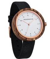 De officiële WoodWatch   Oslo Black   Houten horloge dames