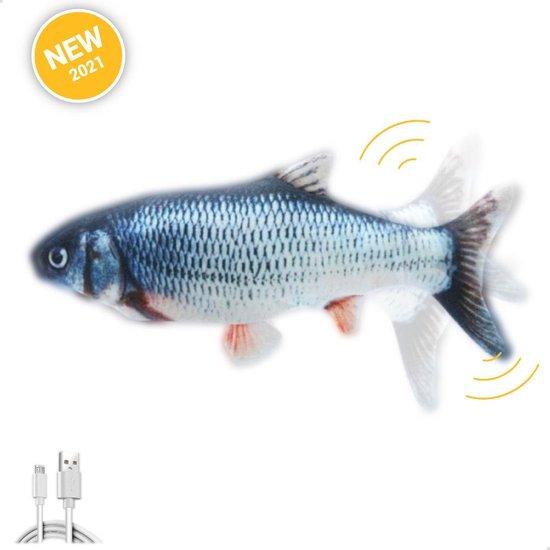 Dansende Vis Kattenspeelgoed - Kattenspeeltjes - Bewegende Vis - USB Oplaadbaar - Speelgoed voor katten - Incl. kattenlampje