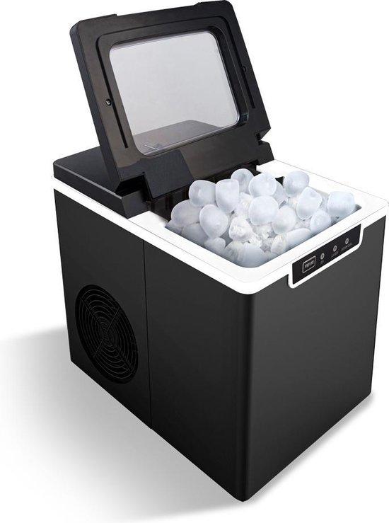 BluMill IJsblokjesmachine – IJsblokmaker – zonder IJsblokjesvorm - 1,6 L - Zwart