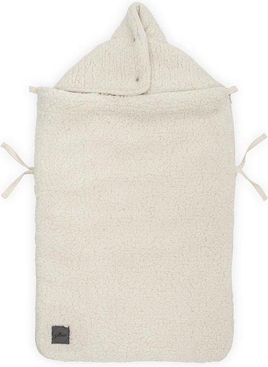 Product: Jollein Voetenzak voor Autostoel & Kinderwagen - Teddy - Cream White, van het merk Jollein