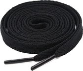 Schoenveters - Veters - Plat - Zwart - Veterlengte 120 cm – 8 mm