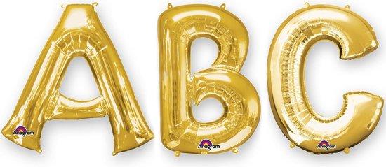 BOLAND BV - Goudkleurige aluminium letter ballon - Decoratie > Ballonnen