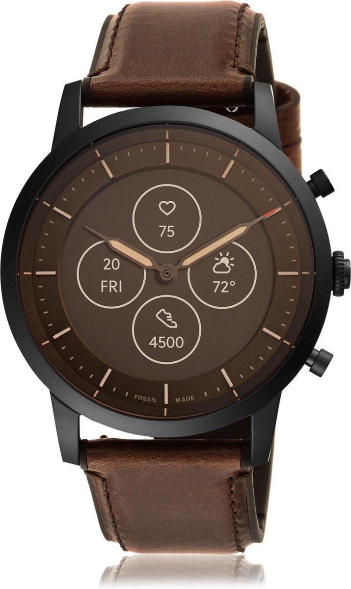 Fossil Collider Hybrid HR FTW7008 - Smartwatch Heren - 42 mm - Bruin