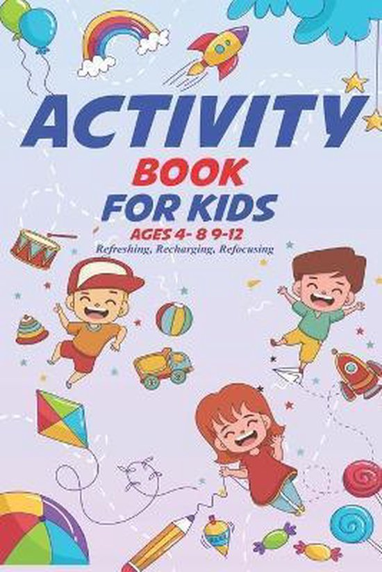 Activity Book for Kids Ages 4-8 9-12