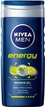NIVEA MEN Energy - 6x 250 ML - Voordeelverpakking - Douchegel