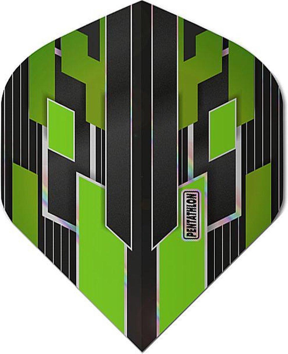 ABC Darts - Pentathlon Dart Flights Shimmers - Groen - 5 sets