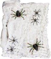 Folat - Spinnenweb - Wit - Incl. spinnen - 100gr.