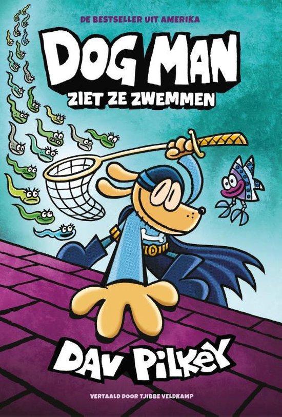 Boek cover Dog Man  -   Dog Man 8 - Dog Man ziet ze zwemmen van Dav Pilkey (Hardcover)