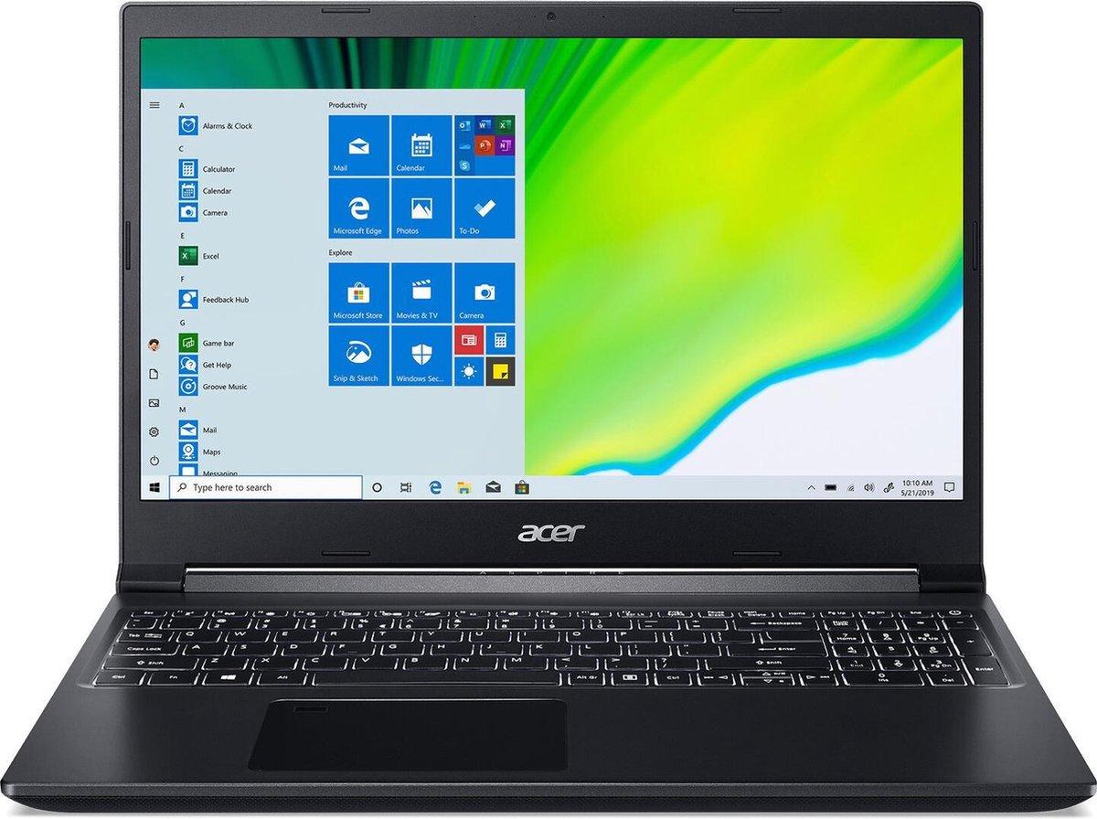 Acer Aspire 7 A715 - 15 inch FullHD Gaming laptop - Ryzen 5 3550H - 8GB 512GB - Windows 10 Professional