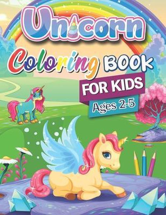 Unicorn Coloring Book for Kids ages 2-5