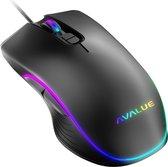 Optische Gaming Muis AVALUE™ - RGB Verlicht En Verstelbare DPI 1000/1600/3200/6400