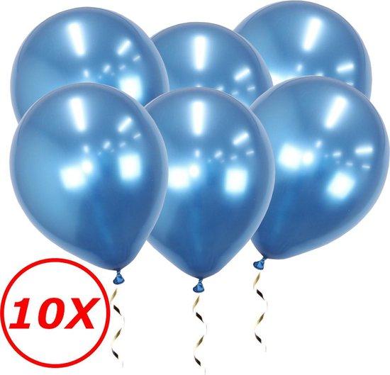 Blauwe Ballonnen Verjaardag Versiering Blauwe Helium Ballonnen Feest Versiering Gender Reveal Babyshower Chrome Blauw 10 Stuks