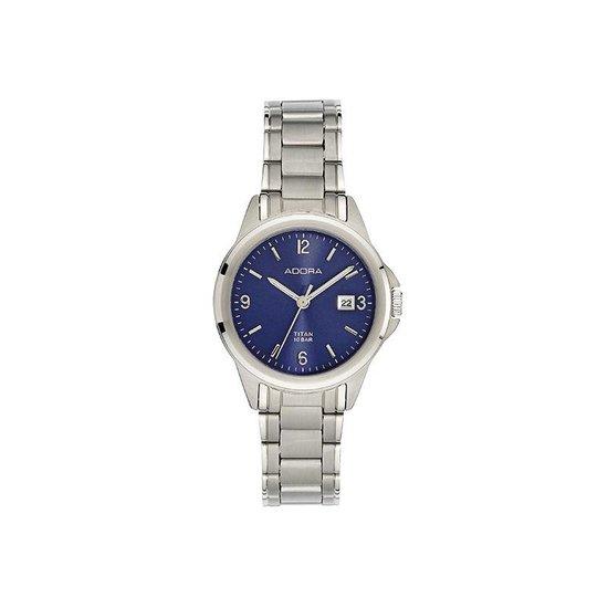 Mooi adora titanium horloge met datum AB6523