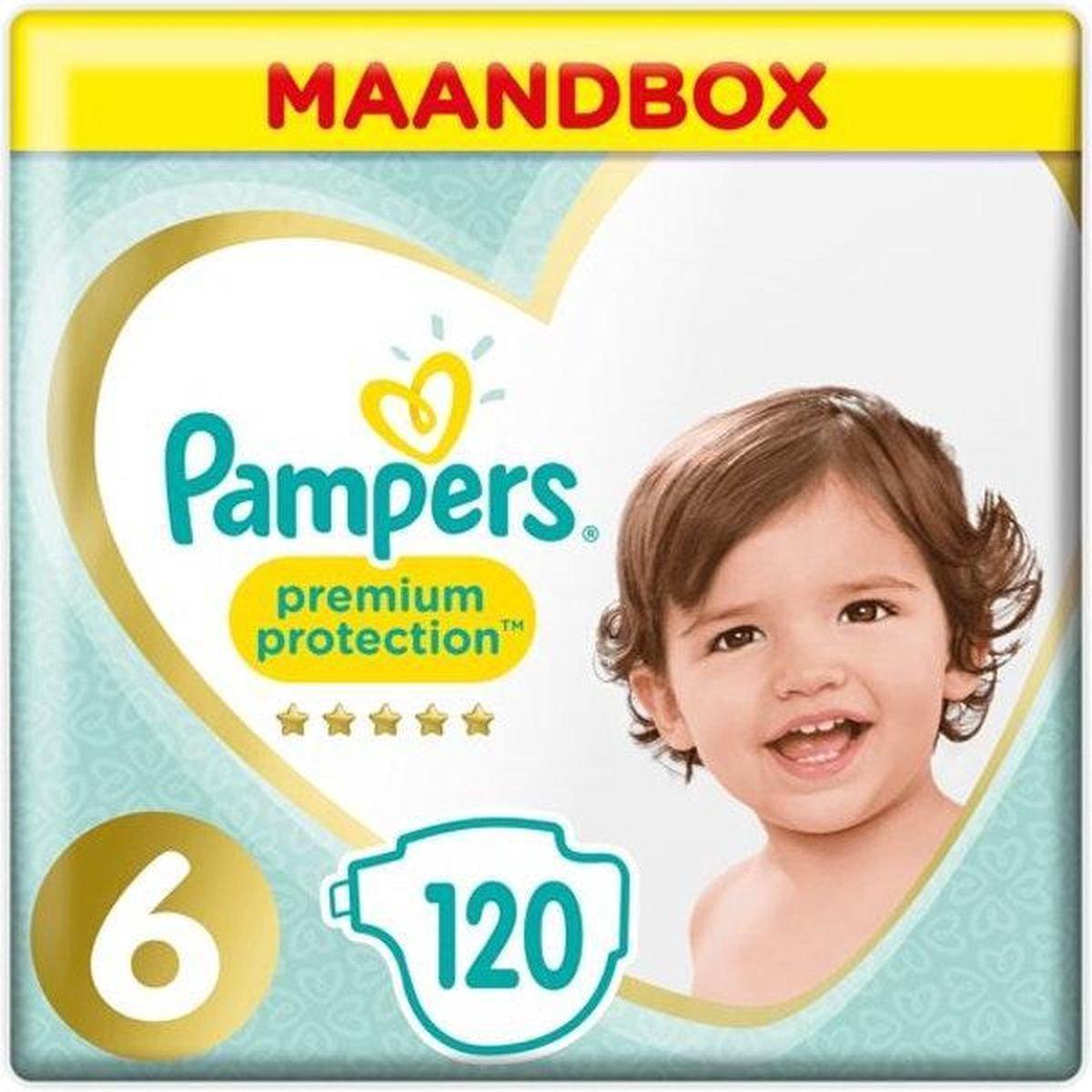 Pampers Premium Protection Luiers - Maat 6 (13+ kg) - 120 stuks - Maandbox - Pampers