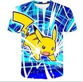 Pikachu / Pokemon/ T-shirt_maat 130