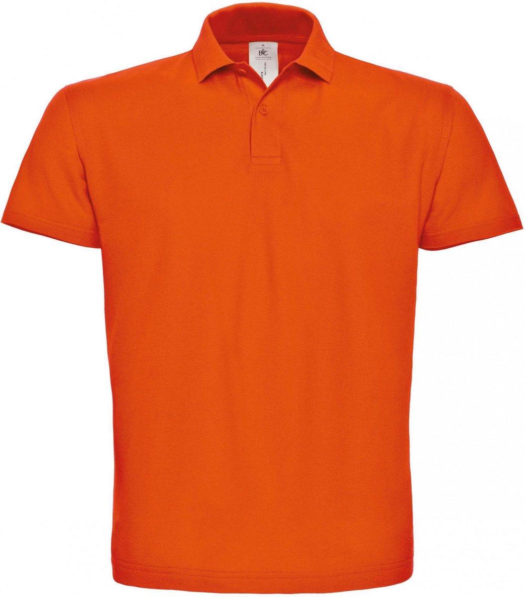 B&C Heren Oranje Polo REGULAR FIT Maat L 100 % Katoen