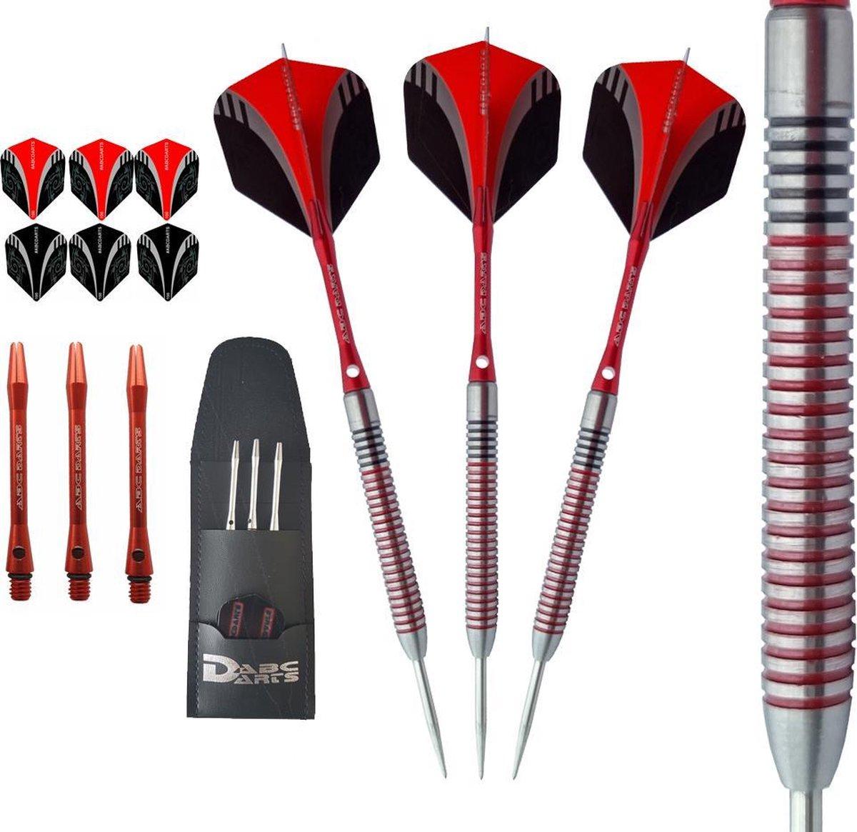 ABC Darts Professionele Dartpijlen - Red Dragonas Multi Ring - 18 gram
