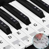Afbeelding van Premium Paintings - Piano stickers - Keyboard stickers - Piano leren spelen - 88 toetsen - Voor beginners en gevorderden