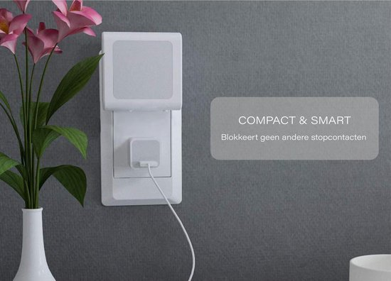 Nachtlampje Stopcontact Dag en Nacht Sensor - Lampje Voor Baby - Kind - Volwassenen & Slaapkamer - Warm Wit Led Verlichting - 2 Stuks + 2x Kinder Beveiliging