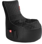 Maison's Luxe Game Zitzak - Bean Bag - Gaming - Game stoel – Zwart Grijs - Zitzak -Polyster- Kunstleer -95x65x90