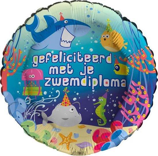 folieballon zwemdiploma