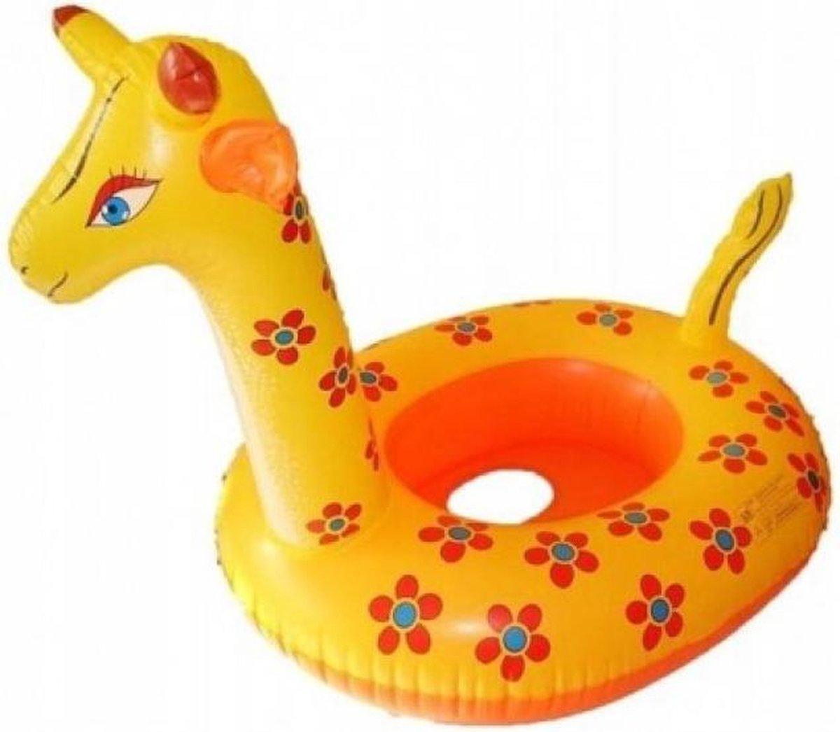 Opblaasbaar Giraffe Zwemband voor Baby's - 60x46x60cm - Water Speelgoed Dier Geel Oranje - Voor kinderen jongens / meisjes