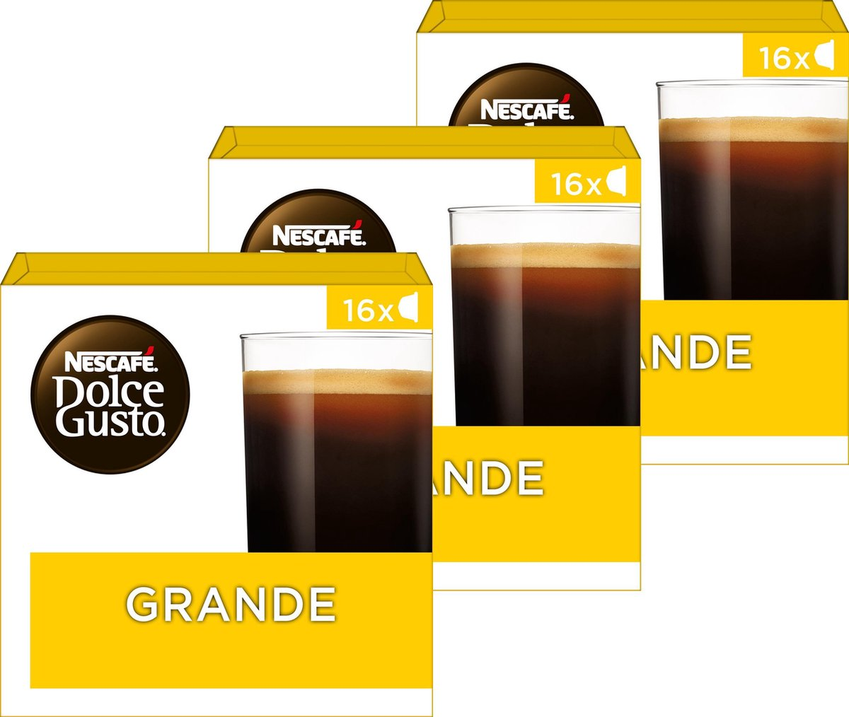 Nescafé Dolce Gusto capsules Grande - 48 koffiecups - geschikt voor 48 koppen koffie