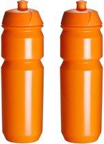 2 x Tacx Shiva Bidon - 750 ml - Oranje - Drinkbus