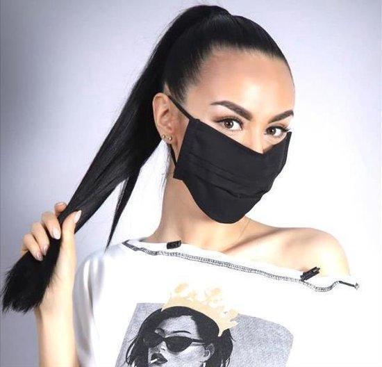 Afbeelding van Mondkapje - wasbaar mondmasker - gezichtsmasker | zwart