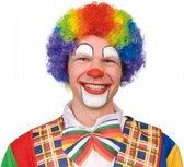 Pruik krullen clown multi color