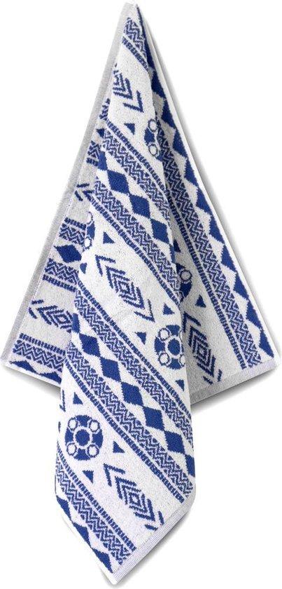 Proenk.nl - Hand/keukendoek Zeeuws schortenbont blauw/wit