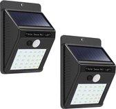 Wandlamp voor buiten -Set van 2 - Werkt op zonne-energie - Met bewegingssensor - 30 LED's