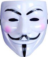 Masker V for Vendetta - Wit.