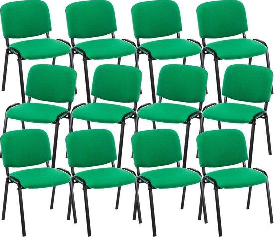 Clp Ken 12x Stapelbare Eetkamerstoel Stof Groen