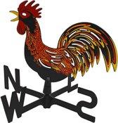 Windhaan / windwijzer gekleurd - 33 x 29,5 x 4 cm - windrichtingaanwijzer / windrichtingwijzer