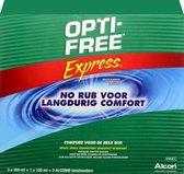 OPTI-FREE Express MPDS - 3 x 355 ml + 120 ml + 3 lenshouders - Lenzenvloeistof