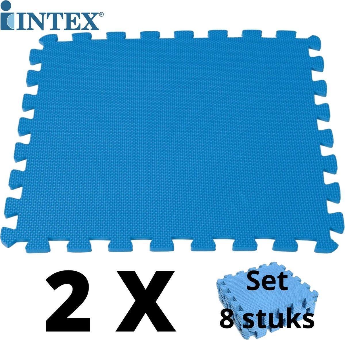 16 tegels - 4m2 + Cleaner - Intex Zwembad tegels - 50 x 50 x 1 - Dikke tegels - Foam Ondergrond + Officiële Zwembadtegel Cleaner Intex