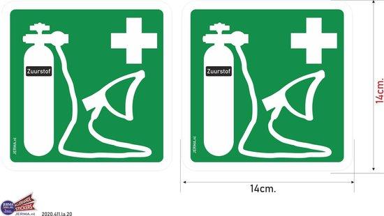 Zuurstoffles hier aanwezig sticker set