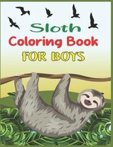 Sloth Coloring Book For Boys